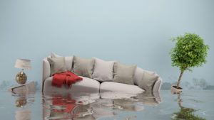 A couch in water | plumbing, heating and air conditioning in oxford ma